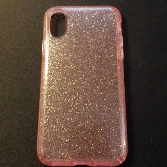 huge selection of 6363c b64a2 Speck Presidio Bella Pink Glitter iPhone X Case